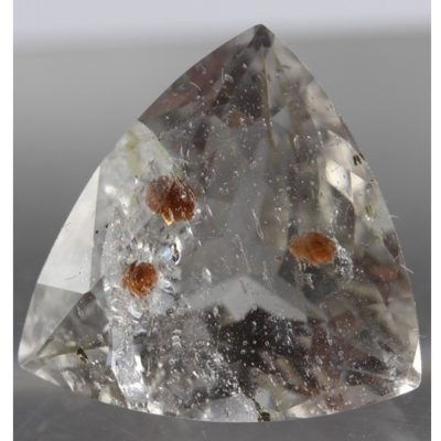 Quartz with Hessonite Garnet